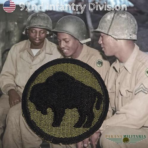 Patch 92ª Divisão de Infantaria - 2ª Guerra Mundial