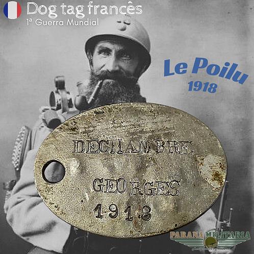 Dog Tag Francês 1918 - 1ª Guerra Mundial