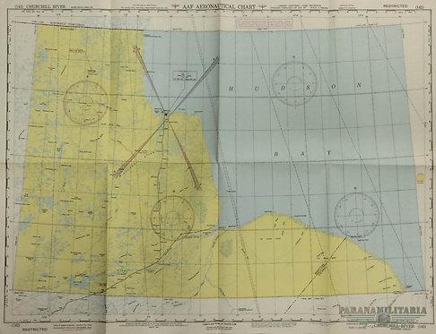 Mapa Aeronáutico 1944 - Região Canadense