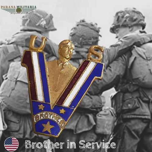 Pin patriótico Irmão em Serviço - 2ª Guerra Mundial