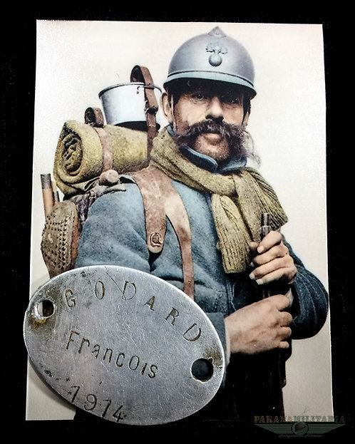 Dog Tag Francês 1914 - 1ª Guerra Mundial