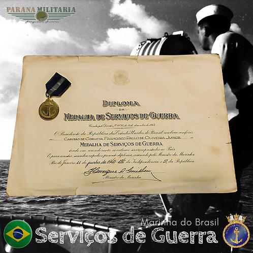 Medalha de Serviços de Guerra com Diploma 2ª Guerra Mundial