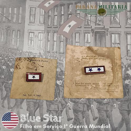 Blue Star, filho em serviço, raro ainda na embalagem - 1ª Guerra Mundial
