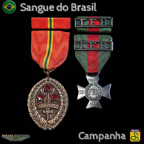 Medalhas da FEB - Sangue do Brasil e Campanha