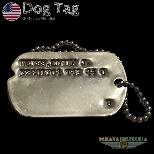 "Dog Tag 1943 ""Edwin"" - 2ª Guerra Mundial"