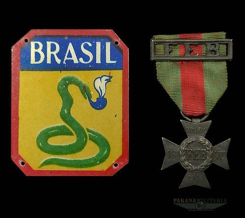 Medalha de Campanha e Latinha da FEB - 2ª Guerra Mundial