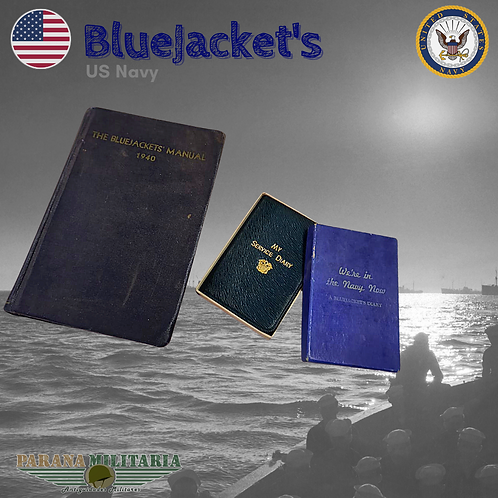 Manual e diário Bluejacket's – 2ª Guerra Mundial