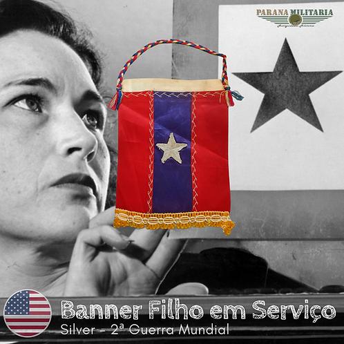 "Raro Banner filho em Serviço ""Silver"" - 2ª Guerra Mundial"