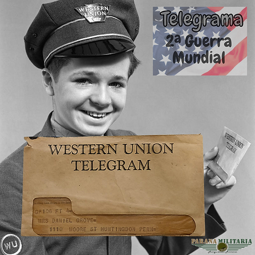 Telegrama Western Union -  2ª Guerra Mundial