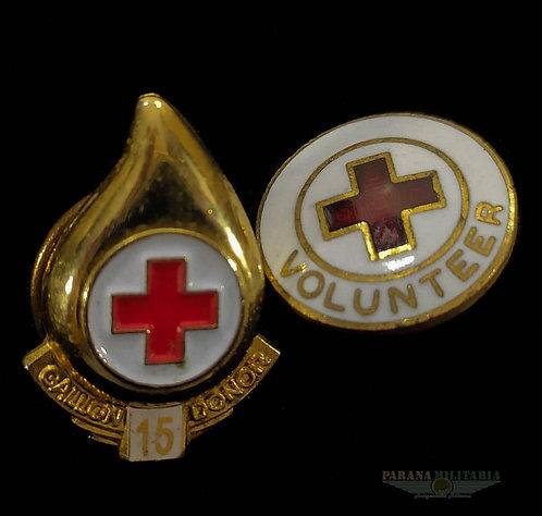 Pins Voluntário Cruz Vermelha Americana - Guerra do Vietnã