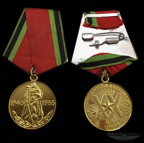 Medalha Soviética 20 anos da Vitória 2ª Guerra Mundial