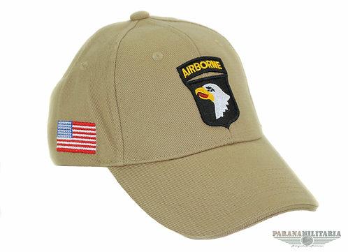 Boné 101st Airborne Souvenir Normandia - Cáqui