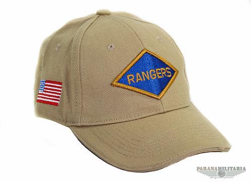 Boné Us Rangers Souvenir Normandia - Cáqui