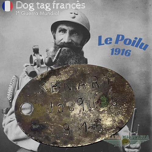 Dog Tag Francês 1916 - 1ª Guerra Mundial