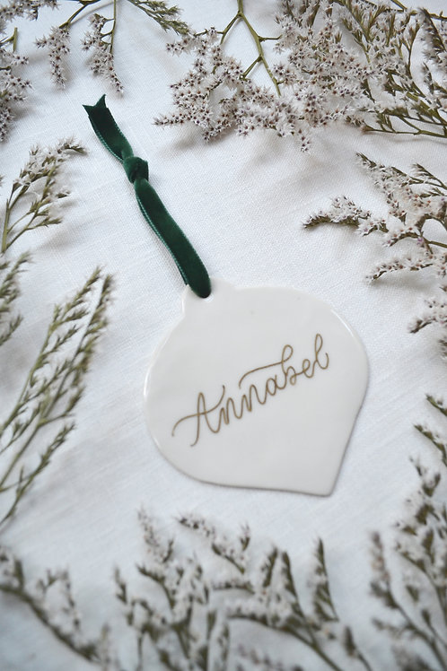 Personalised Porcelain Christmas Decorations