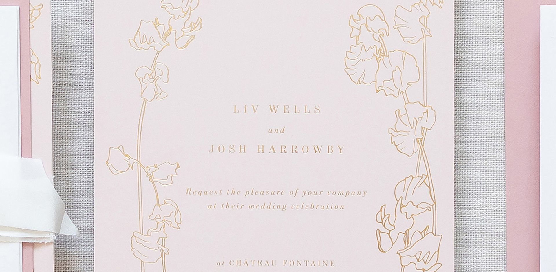 Bespoke Wedding Invitations with floral
