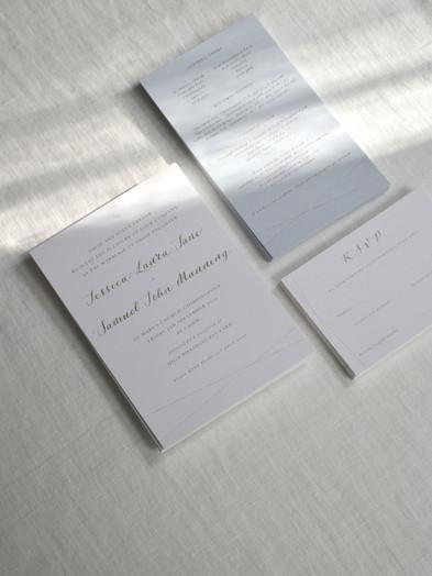 BESPOKE CALLIGRAPHY WEDDING INVITATIONS