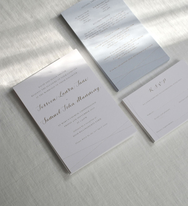 Bespoke Foil Printed Wedding Invitation
