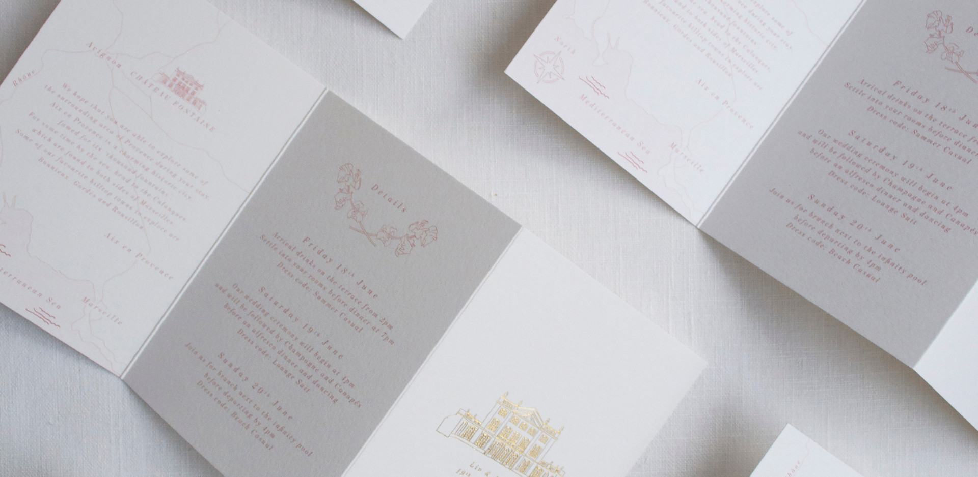 Bespoke Wedding Invitation Information I
