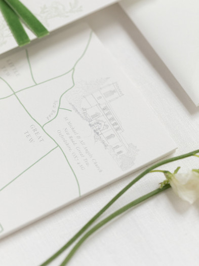 BESPOKE HAND DRAWN WEDDING VENUE & MAP