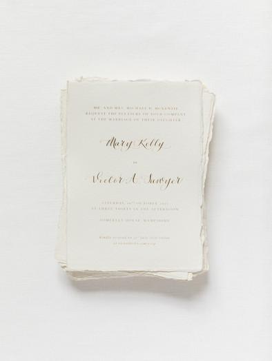 HOT FOIL PRINTED & CALLIGRAPHY WEDDING INVITATION