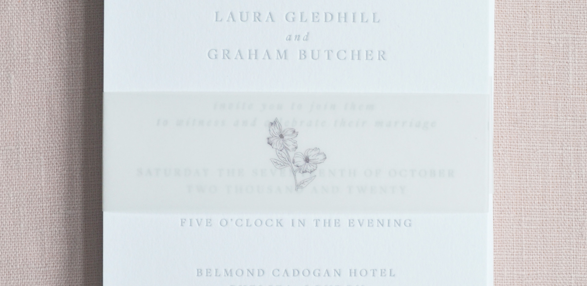 Bespoke Letterpress Wedding Invitations