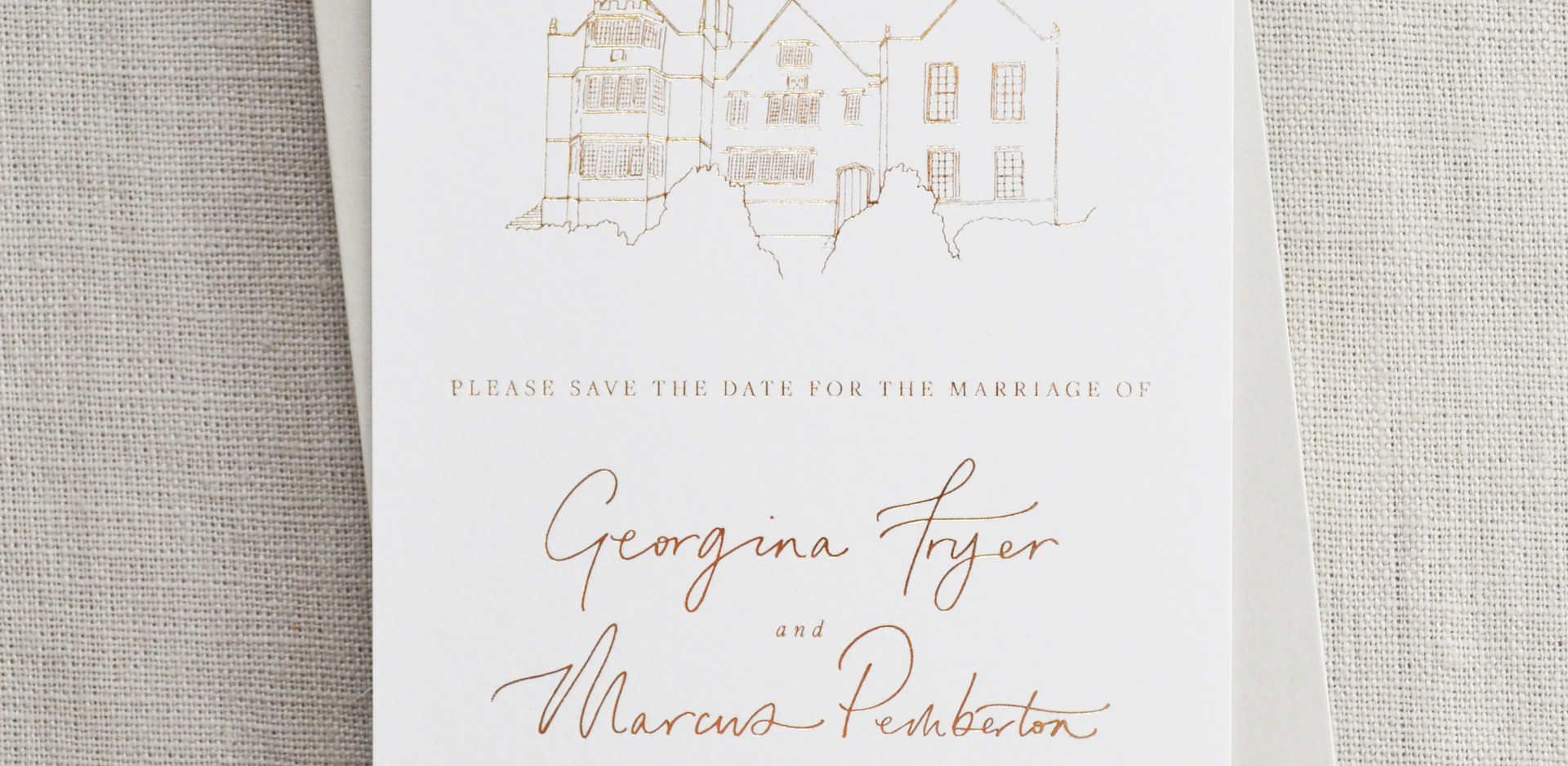Bespoke Save the Dates, Calligraphy and