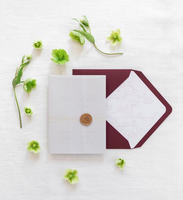 Bespoke Letterpress Wedding Invitation S