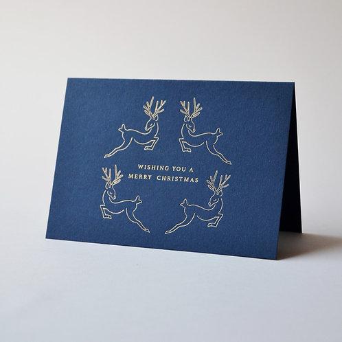 Christmas Reindeer, Midnight Blue (Pack of 4)