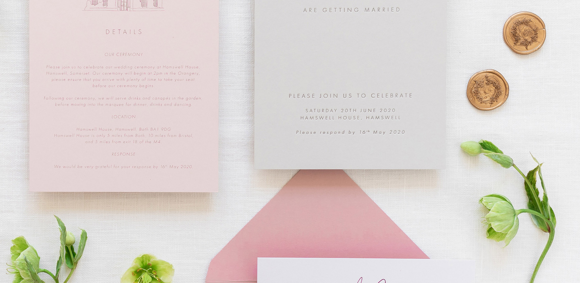Bespoke Letterpress Printed Wedding Invi