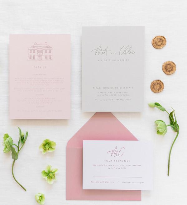 Bespoke Letterpress Printed Wedding Invi
