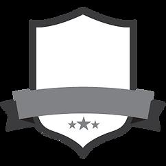 Em branco Cinza do emblema