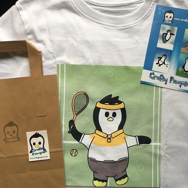 Crafty Penguin Tennis Design