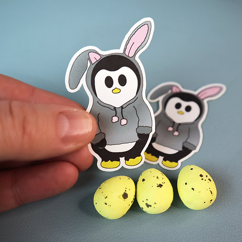 Easter bunny, cute penguin, stickers