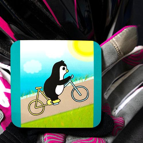 Penguin cycling, bike ride, coaster