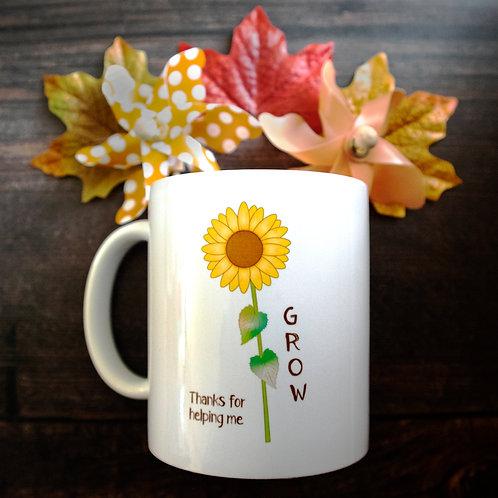 Thank you mug, school staff, teacher gift