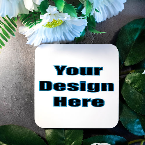 Custom Coaster, beer mat, square,personalised