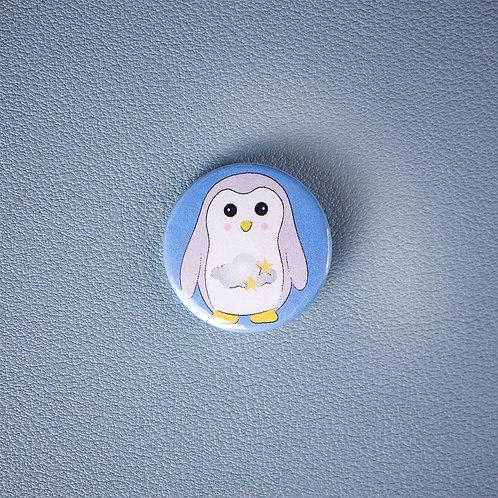 Self care, sleep penguin, pin badge