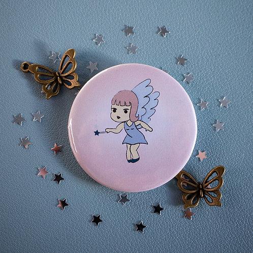 Winter fairy, kawaii, cute, badge