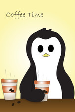 Crafty Penguin Coffee Time