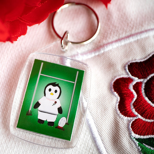 Rugby penguin, player, national team, key ring