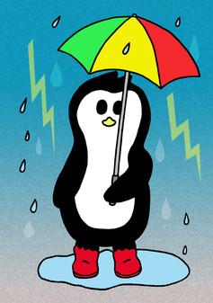 Crafty Penguin Rainy Day Design