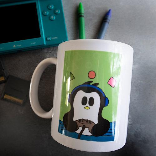 Gaming penguin mug, video games, gamer