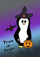 Crafty Penguin Halloween Design