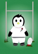 Crafty Penguin Rugby Design