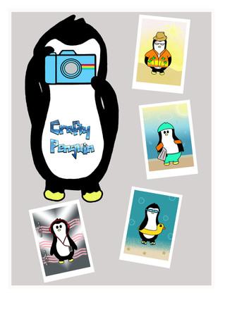 Crafty Penguin Polaroid Design