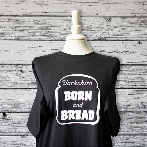 Yorkshire Born and Bred, T-shirt, black