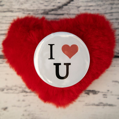 I love you, love heart, badge