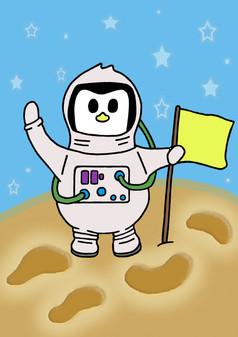 Crafty Penguin Astronaut Design