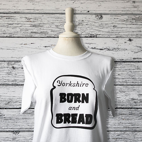 Yorkshire Born and Bred, T-shirt, white